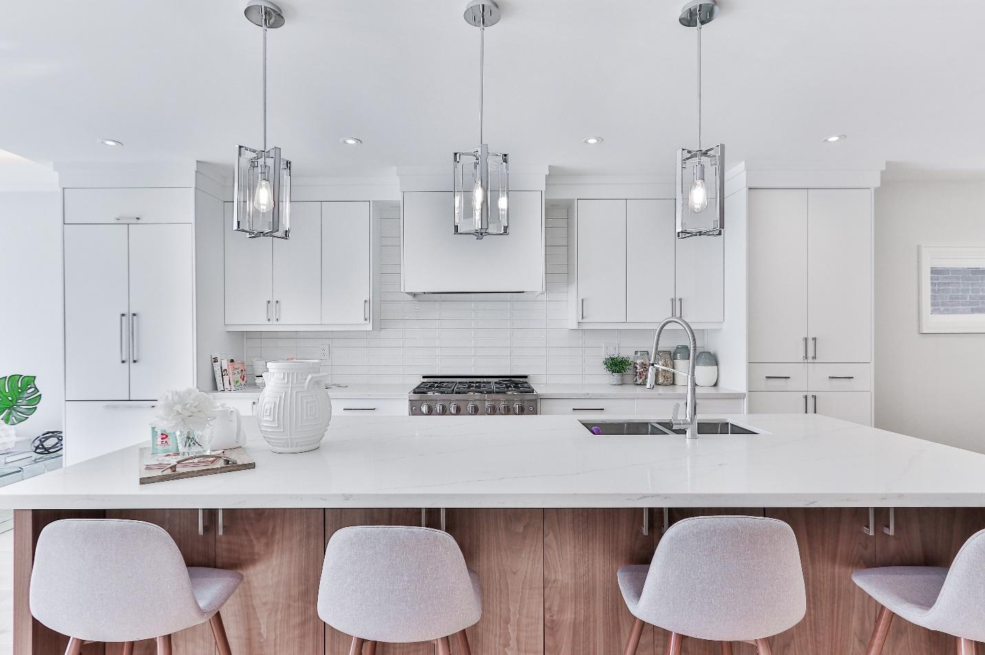 A kitchen with modern designer furniture, Watford